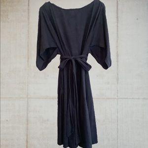 Eshakti Cotton Cape Sleeve Midi Dress Size 14